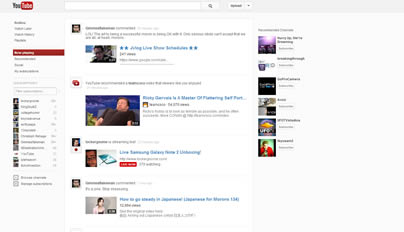 new Youtube layout redesign